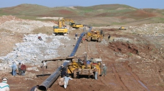 "Completion of 72 km of 26"" Pipelines of raw oil (Tang-e-Fanni.)"